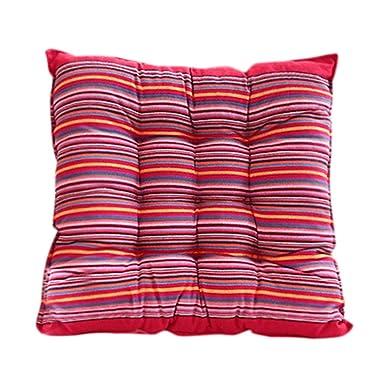 Cojín cuadrado de algodón para asiento de silla, almohadilla ...