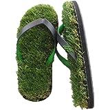 Union Power Funny Grass flip Flops, Lawn Slippers, Artificial Grass flip-Flops for Men, Women and Children