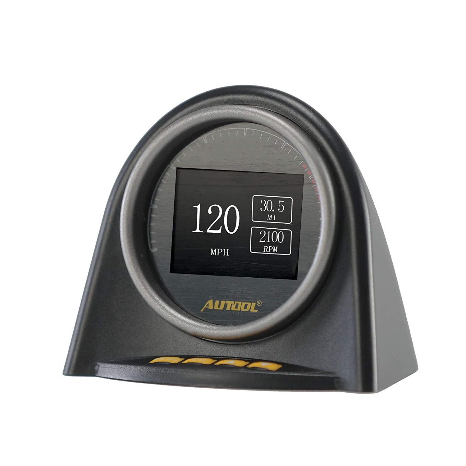 AUTOOL Car OBD II OBD2 EUOBD HUD Head Up Display for Vehicle Speed MPH KM//h,Engine RPM,OverSpeed Warning,Mileage Measurement,Water Temperature,Voltage Support 12V OBDII J1850 Cars