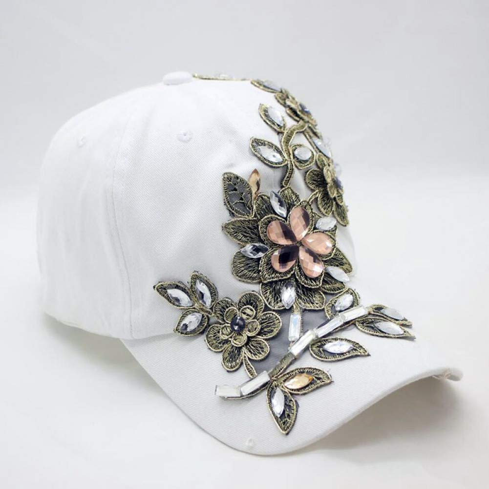 FXSYL Gorra de Beisbol Diamantes de imitación Vendimia Mujer ...
