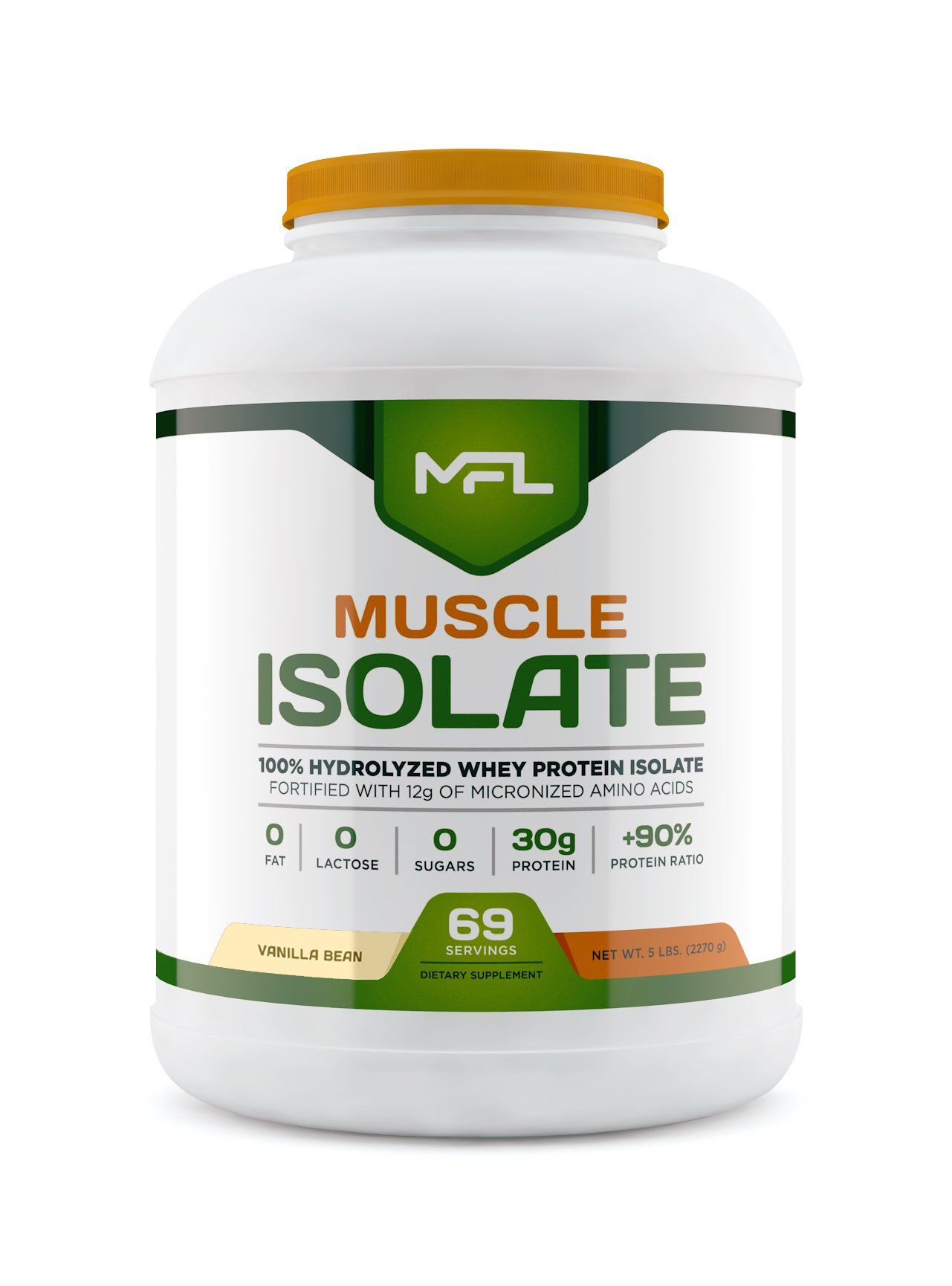 MUSCLE FOOD LABS Muscle Isolate, 5 pounds (Vanilla Bean)