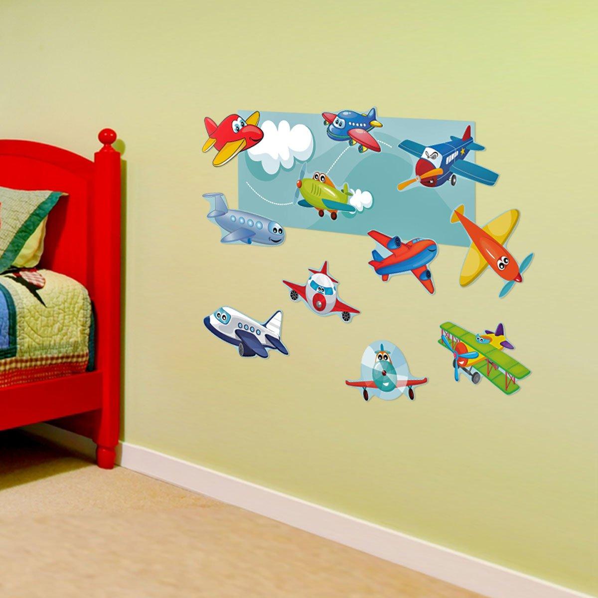 Amazon.com: Mona Melisa Designs, Interactive Wall Play Set, Planes ...