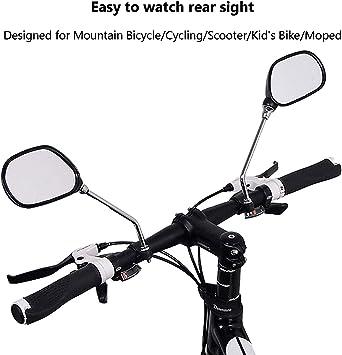 Vélo Bicyclette Arrière Miroir de vue arrière de bras Bracelet Vue rearv Rotatif