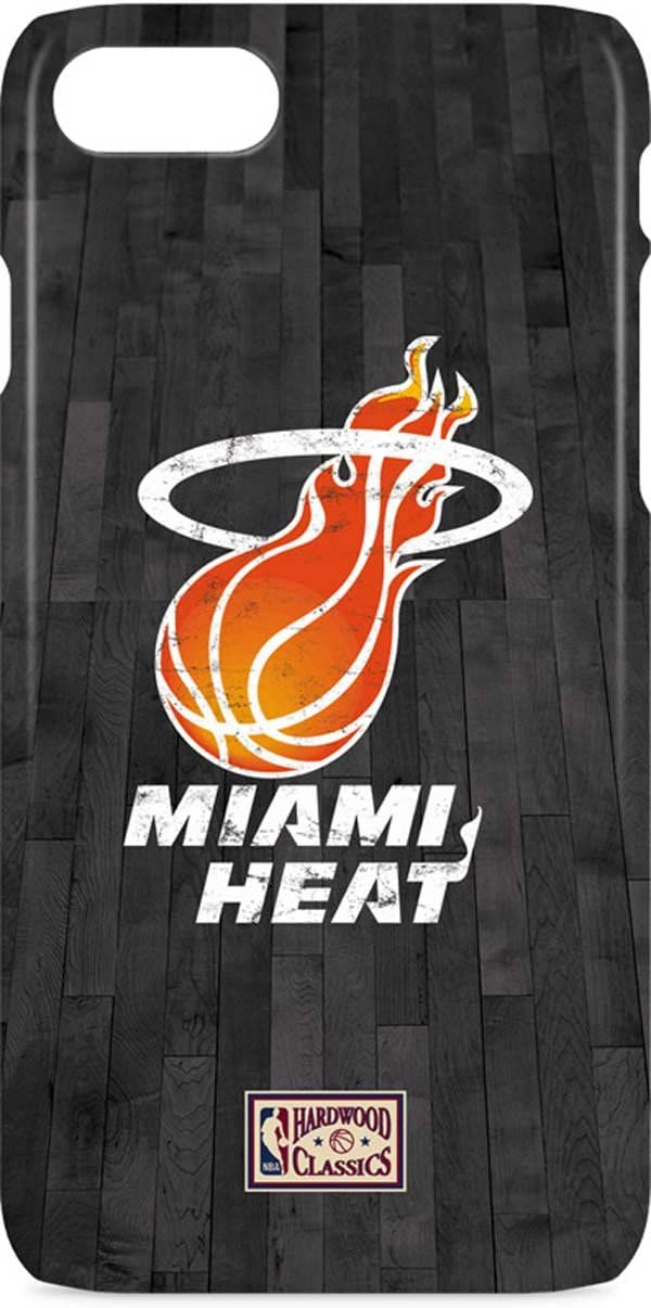B01NCJUJ1O Skinit Lite Phone Case for iPhone 7 - Officially Licensed NBA Miami Heat Hardwood Classics Design 614WZ2ByYTAL