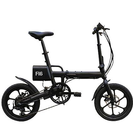 bicicleta eléctrica Plegable del Coche 16 Pulgadas Adulto Coche eléctrico de Velocidad Variable de Plegado de
