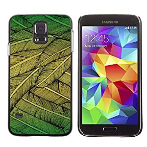 Stuss Case / Funda Carcasa protectora - Feathers Green Nature Art Bird Flying Tree - Samsung Galaxy S5 SM-G900