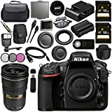 Nikon D810 DSLR Camera 1542 AF-S NIKKOR 24-70mm ED Lens + 128GB SDXC Card + 77mm 3 Piece Filter Kit + Universal Slave Flash unit + Mini HDMI Cable + Carrying Case Bundle