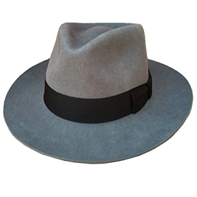 Gray Men s Wool Felt Fedora Hat Gangsters Traditional Godfather ... c4c116d4df7
