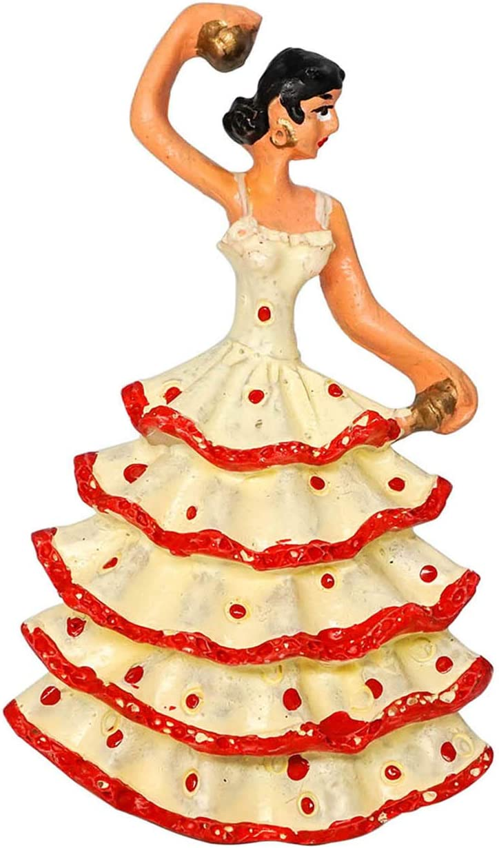 Bailarina de Flamenco, España 3D Imanes para Refrigerador Imán de Nevera Viaje Souvenir Decoración del Hogar (Blanco): Amazon.es: Hogar
