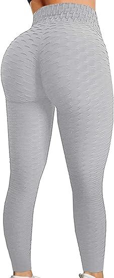 CROSS1946 Womens High Waist Booty Ruched Textured Legging Butt Lift Yoga Pants