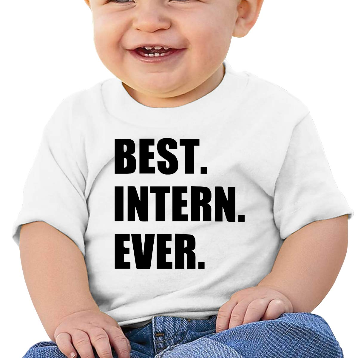 Kangtians Baby Best Intern Ever Shirt Toddler Cotton Tee