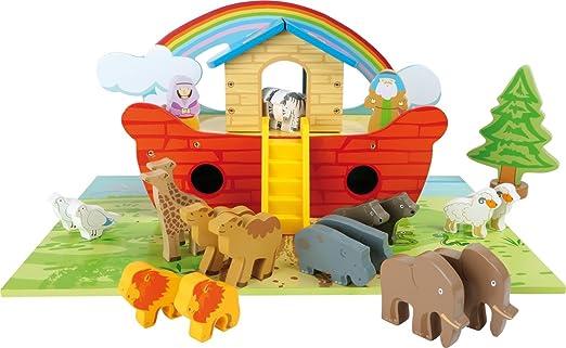 Small Foot 3120 Spielset Arche Noah aus Holz:
