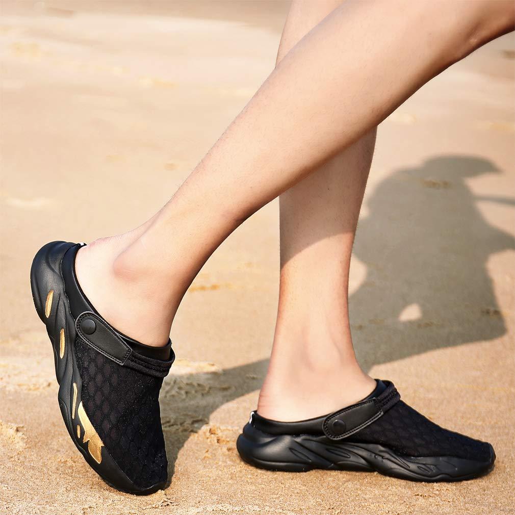 Mens Mesh Water Shoes Womens Garden Clogs Anti-Slip Beach Sandals Breathable Slippers Slide Sandals Lightweight Flip Flops Summer Size