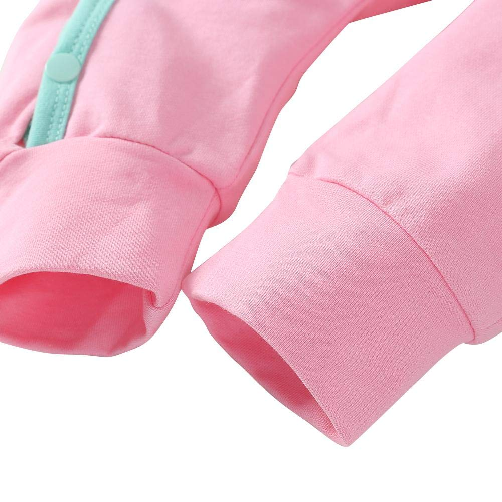 chinatera Newborn Baby Cartoon Elephant Romper Side Buttons Warm Soft Jumpsuit Long Sleeve Cotton Sleepwear