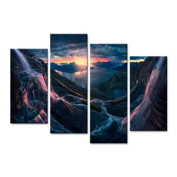 Sizeb Wallart Leinwand Mit Rahmen Wand Paiting Wandbilder