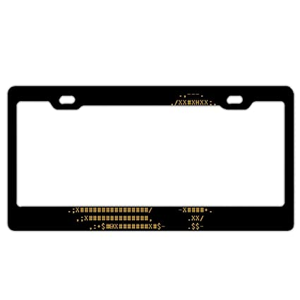 Amazon.com: Broken Heart License Plate Frames Stainless Steel Car ...