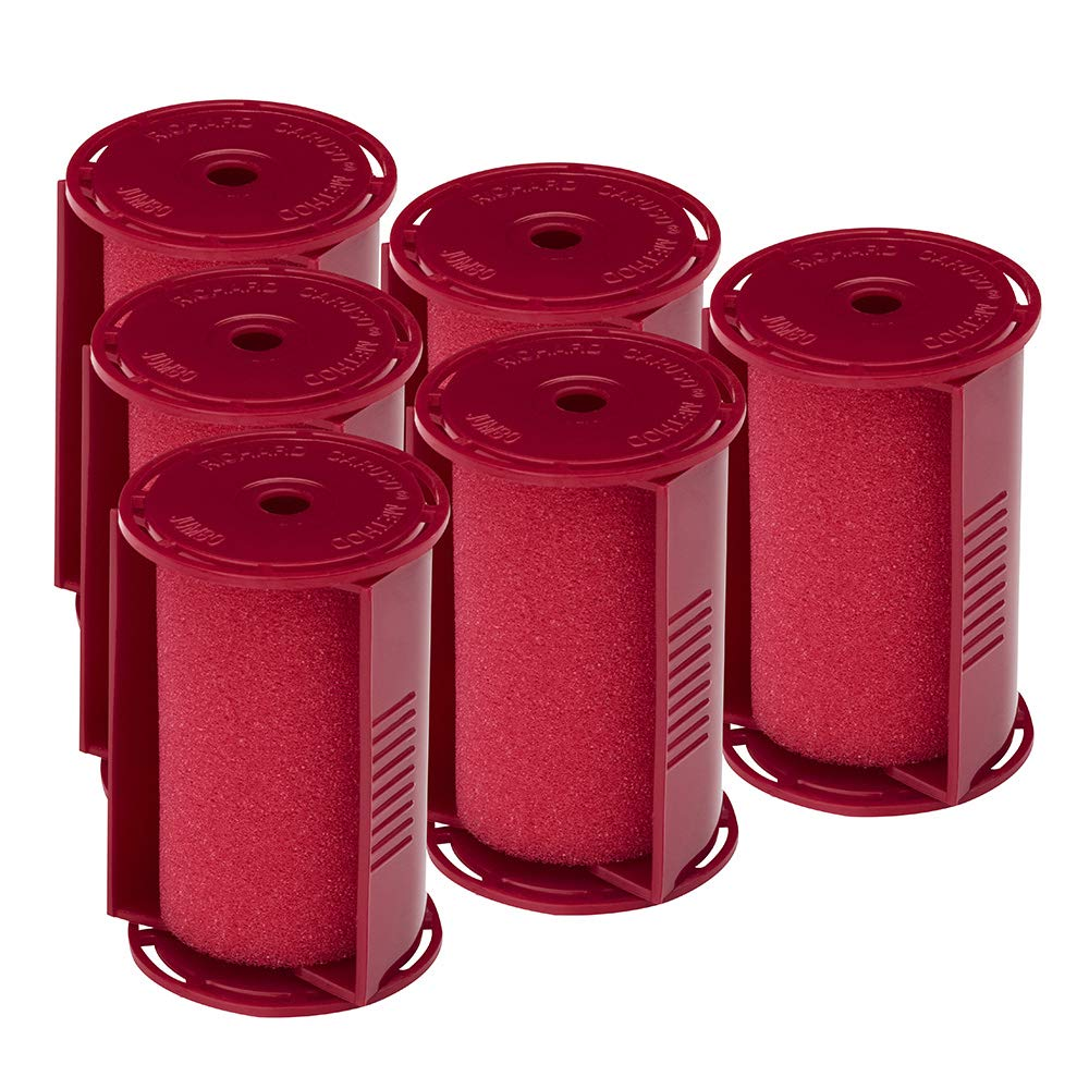 """Caruso Professional Jumbo Molecular Replacement Steam Hair Rollers with Shields, 6-Pack, 1-3/4"""" Inches"""