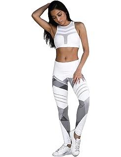 newrong Leggings Femme Pantalon de Sport Élastique Femme