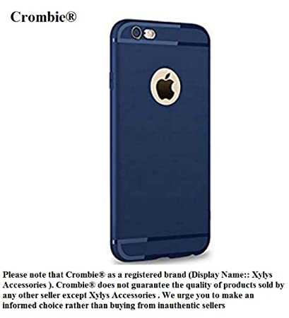 quality design c92c6 36b72 Crombie Soft Silicone Slim Back Cover Case for Apple iPhone 6/6S- Dark Navy  Blue