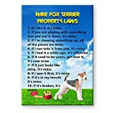 Wire Fox Terrier Property Laws Fridge Magnet No 2 Funny
