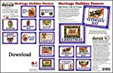 ScrapSMART Heritage Holiday Posters Software Collection: Vintage Designs - Jpeg & PDF Files for Mac [Download]