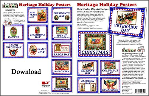 ScrapSMART Heritage Holiday Posters Software Collection: Vintage Designs - Jpeg & PDF Files for Mac [Download] (Clothing Design Software For Mac)