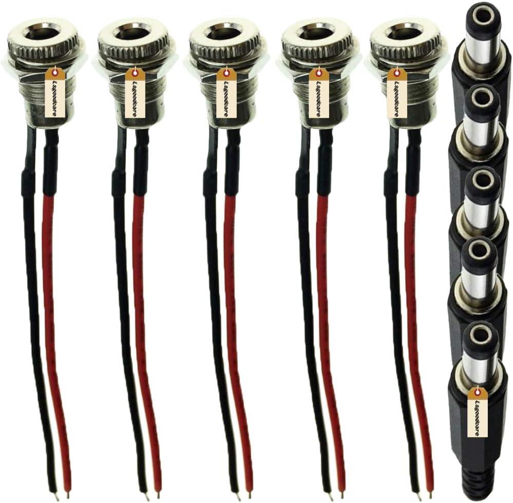 DC Adapter Ø 5,5 x 2,1 Jack /> Jack Socket to Socket 5,5mm x 2,1mm NEW