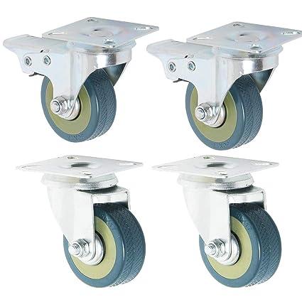 Ruedas de ruedas (2 x estándar, 2 x freno) 50 mm (2