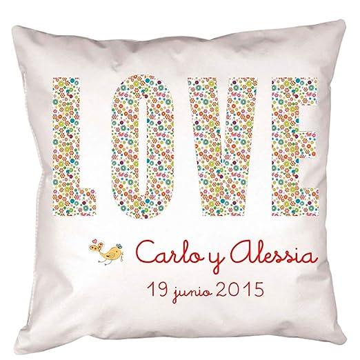 Cojín LOVE, un regalo muy especial para enamorados: Amazon ...