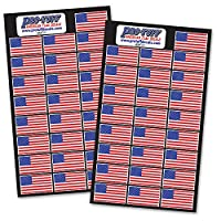 Pro-Tuff Decals 20 Mil American Flag Helmet Decal Set (50 Decals) For Football, Baseball, Lacrosse, Hockey Helmets