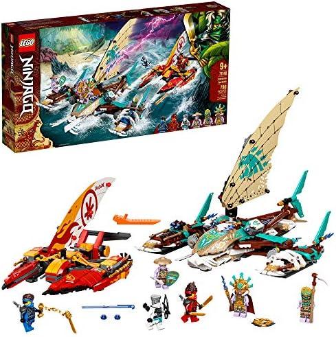 LEGO NINJAGO Catamaran Sea Battle 71748 Building Kit; Ninja Playset Featuring Catamaran Toys and NINJAGO Kai, Jay and Zane; Best Gift for Kids Who Love Creative Play, New 2021 (780 Pieces)