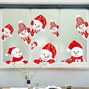 Christmas Wall Decorations Decor Windows Stickers Santa Claus Xmas Wall Window Clings Door Mural Decals Sticker for Home Office Shop Party