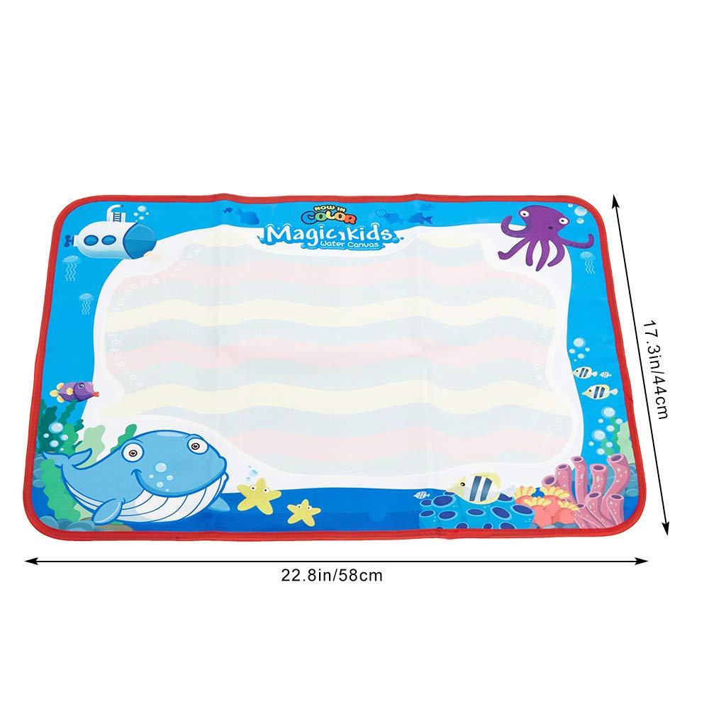 ANIKI TOYS Wasser Magie Zeichnung Malerei Doodle Matte Aqua Schreibtafel mit EIN Farben Zauberstift f/ür Kinder M/ädchen Jungen Kleinkinder Gro/ß, Prinzessin