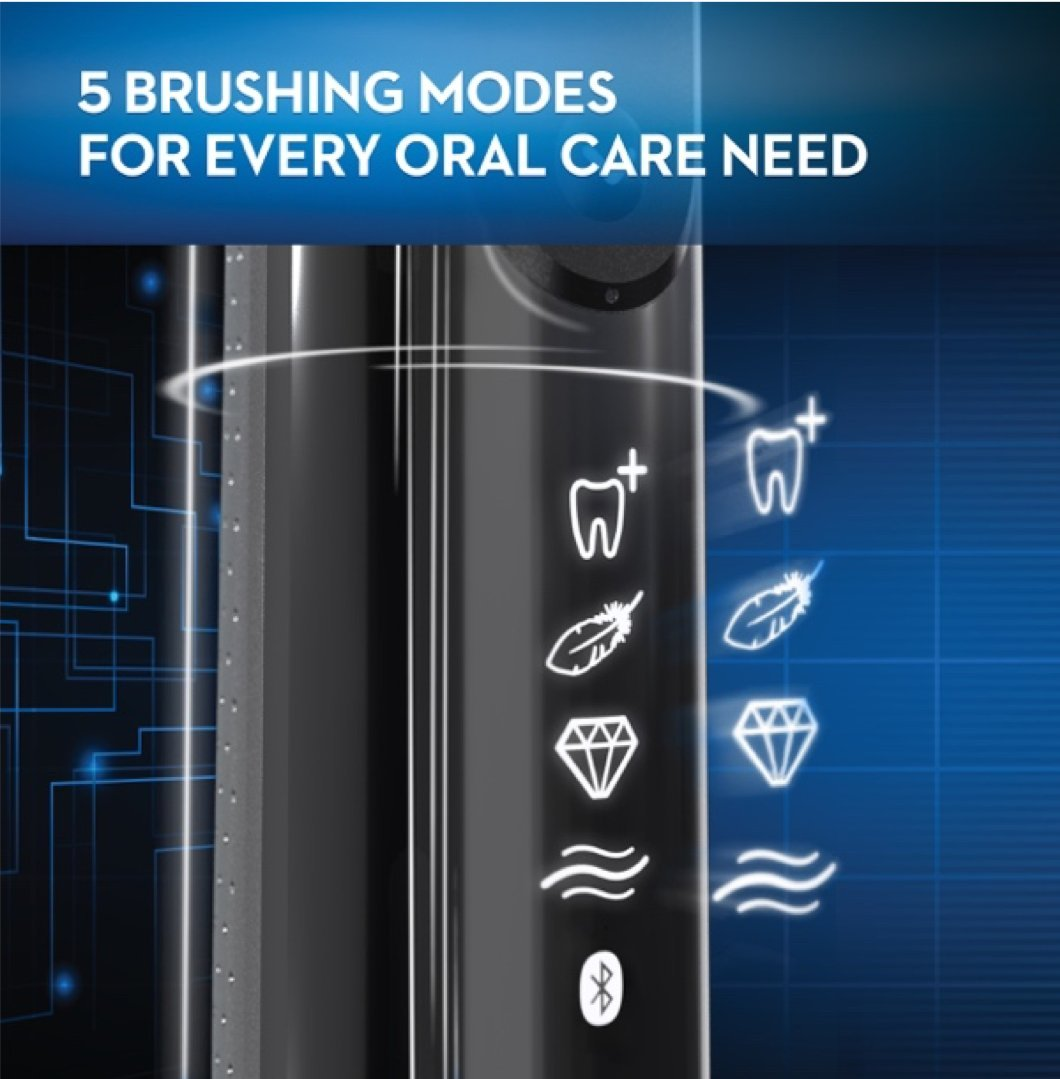 Oral-B Pro 7500 Power Rechargeable Electric Toothbrush Powered By Braun, Black by Oral B (Image #5)