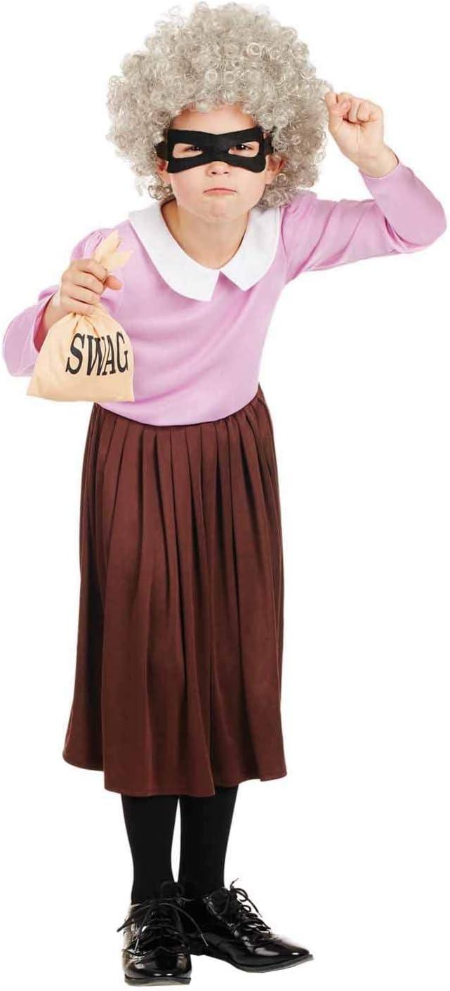 Fun Shack Rosado Abuela Ladrona Disfraz para Niñas - XL: Amazon.es ...