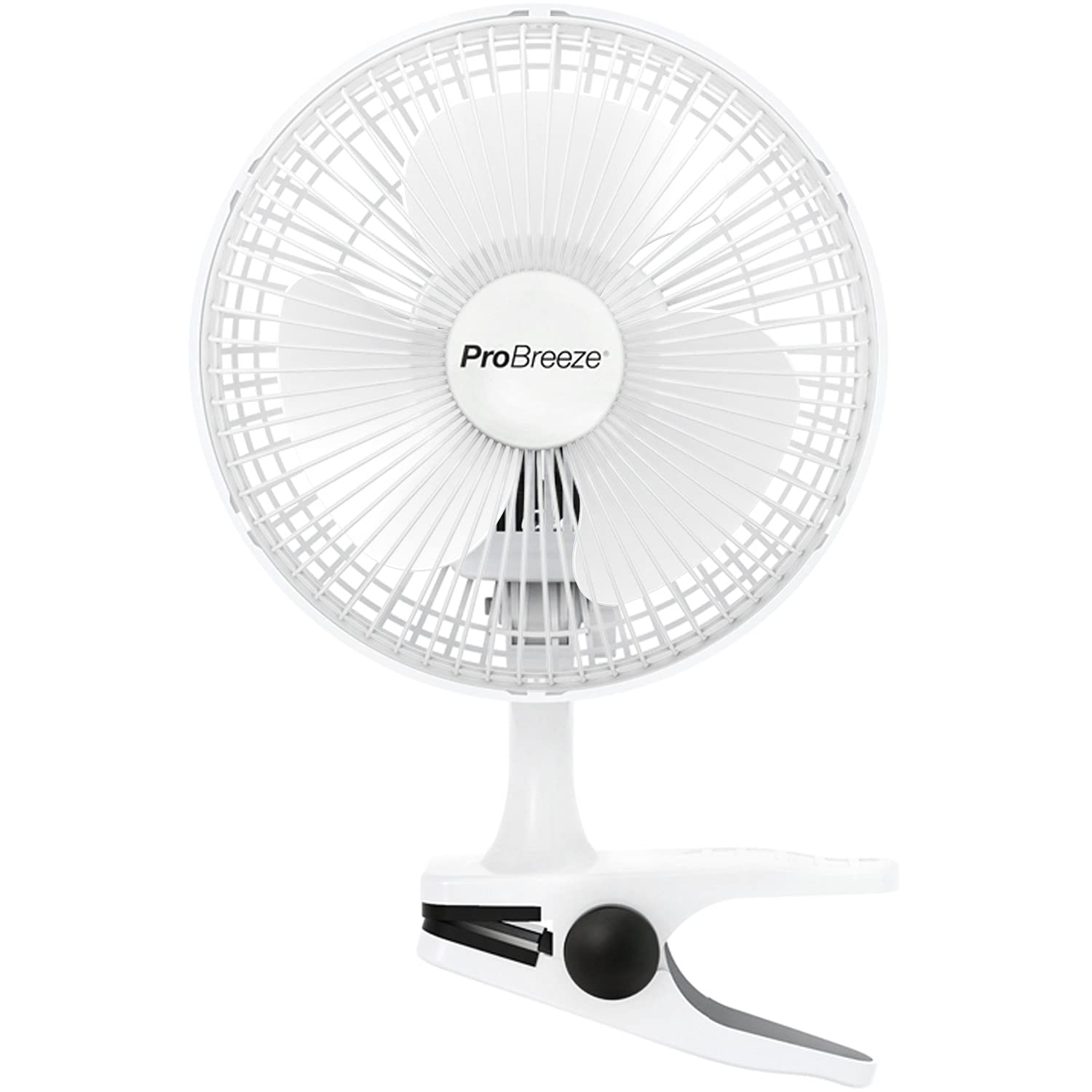 "Pro Breeze™ Professional Mini 6"" Clip Fan for Home, Office and Desk (2-Speed)"