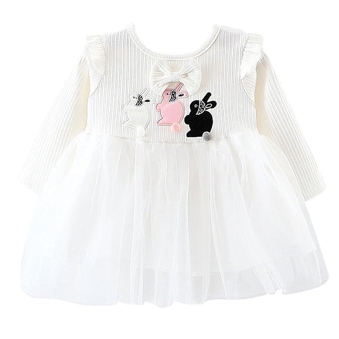 2ebfb0031039 Amazon.com  Aulase Toddler Kids Girls Long Sleeve Knit Cute Rabbits ...