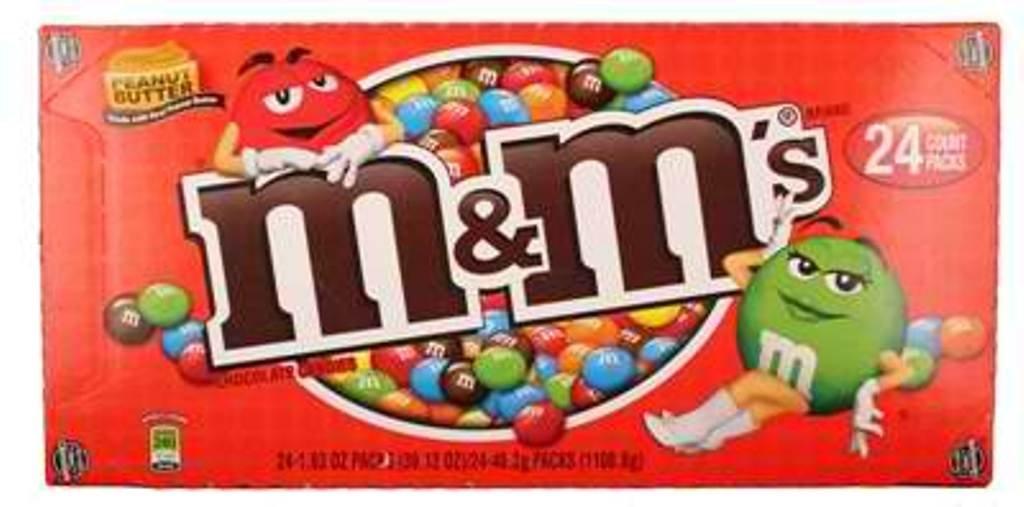 CDM product M&M Peanut Butter Chocolate Candies 24Ct big image