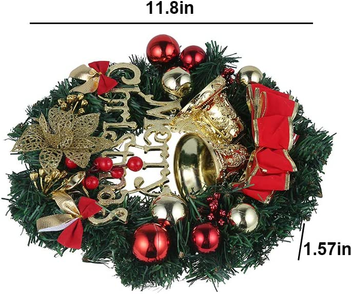 Christmas Garland Decoration 02 Pine Artificial Christmas Hanging Wreath for Indoor Outdoor Festive Wedding Party Christmas Tree Decorations