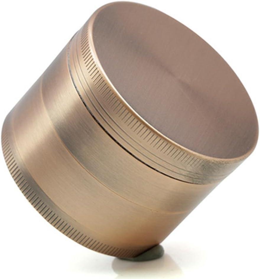 BBYaki Grinder Advanced 55Mm Tabaco / Especias / Café / Molinillo De Hierbas Con Colector De Polen - Aleación De Zinc De Metal De 4 Partes, Bronce