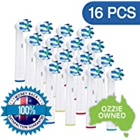 16x NeliCo Cross Action Replacement Toothbrush Heads – Compatible with Oral-B Electric Toothbrush – Advanced Rotating Brush Head and Angled Bristles for a Superior Clean…