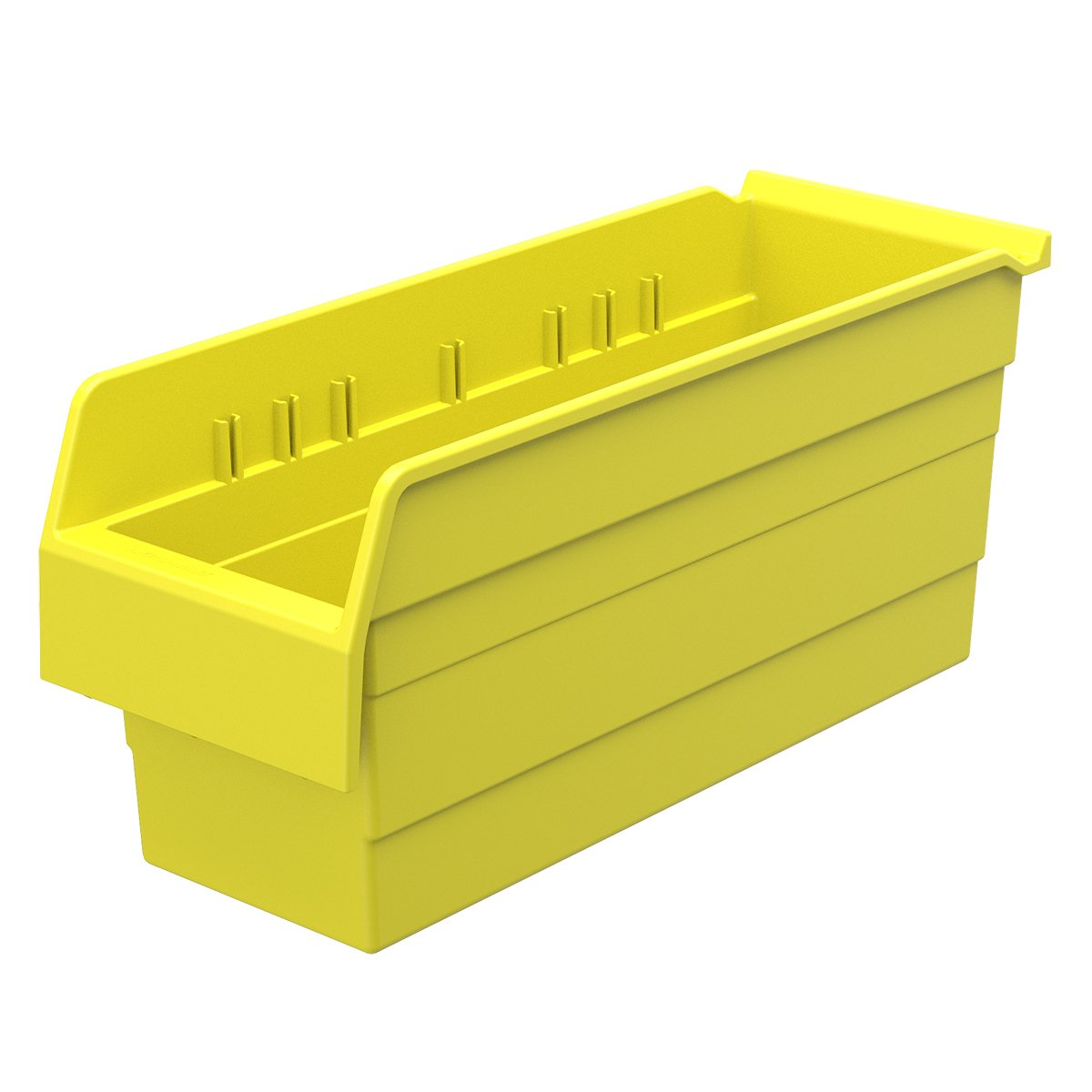 Akro-Mils 30868 ShelfMax 8 Plastic Nesting Shelf Bin Box, 18-Inch x 6-Inch x 8-Inch, Yellow, 10-Pack