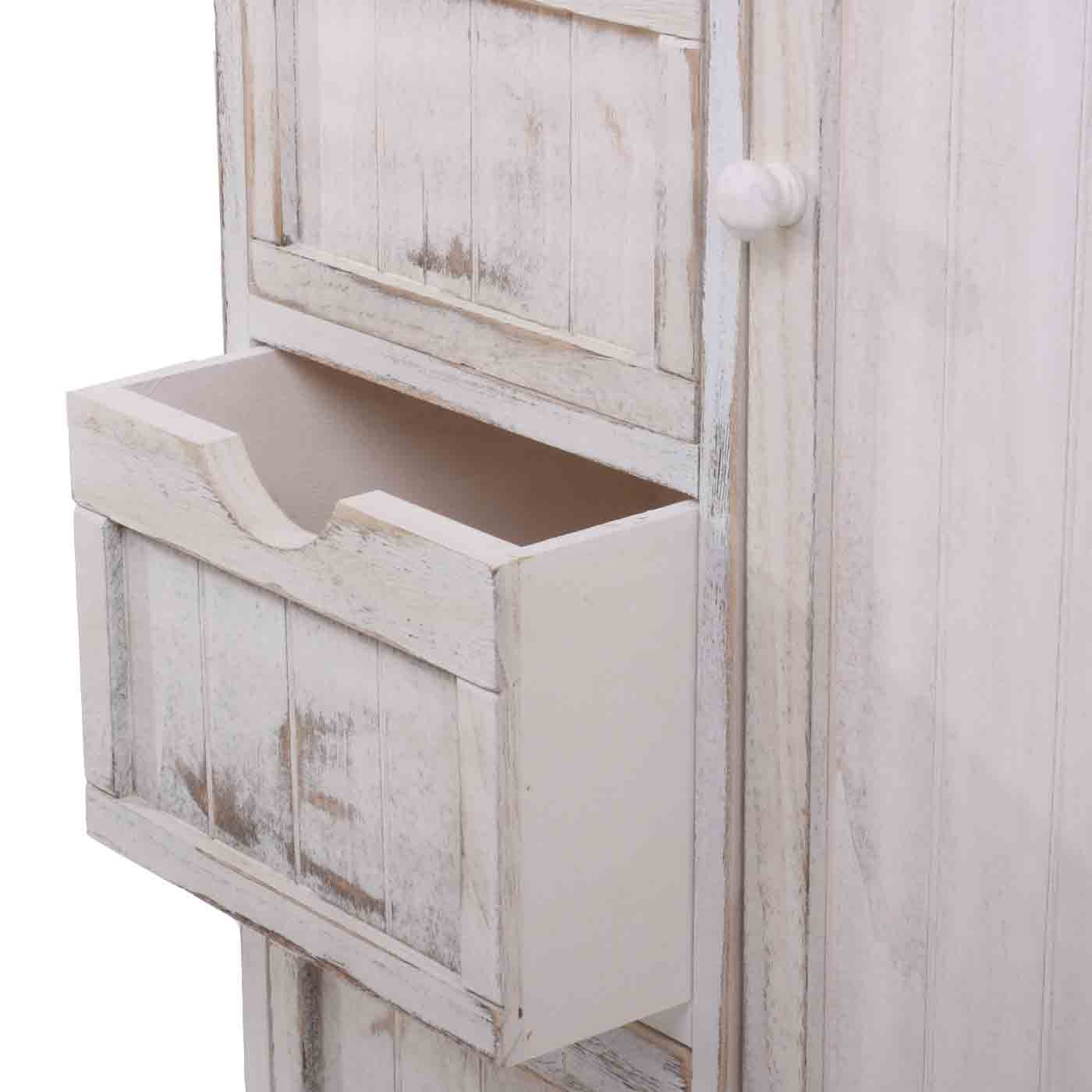 Shabby Look mendler kommode schrank 82x55x30cm shabby look vintage weiß