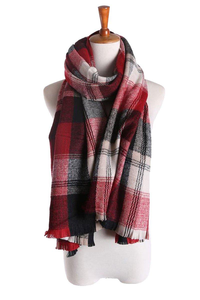 2015 Womens Mens Fashionable Blanket Plaid Winter Scarf Shawl Wrap Scarves