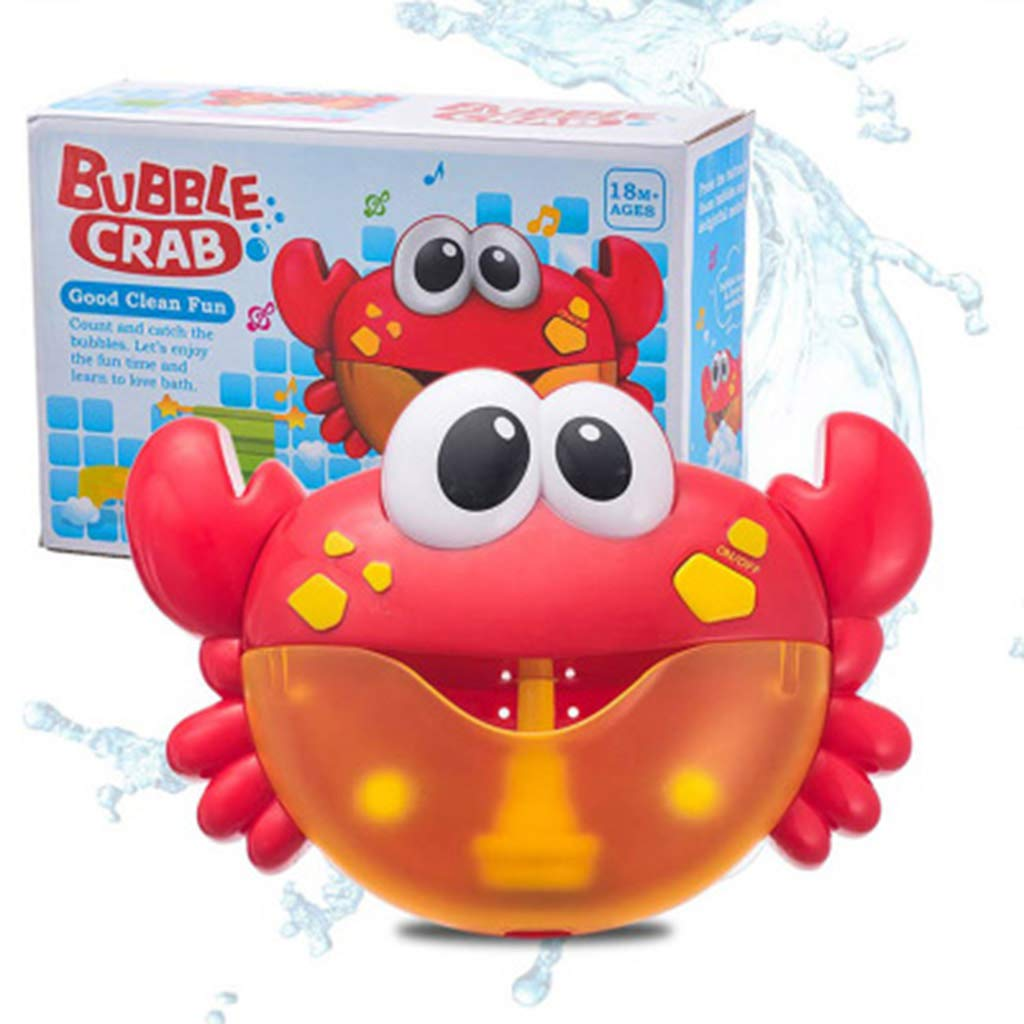 Tebatu Crab Bubble Machine Bath Toy, Automatic Spout Bath Bubble Maker Kids Shower