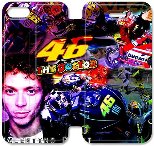 Klreng Walatina® Coque iPhone 6 6s Plus de 5,5 pouces Coque cuir Valentino Rossi l'doctor_001