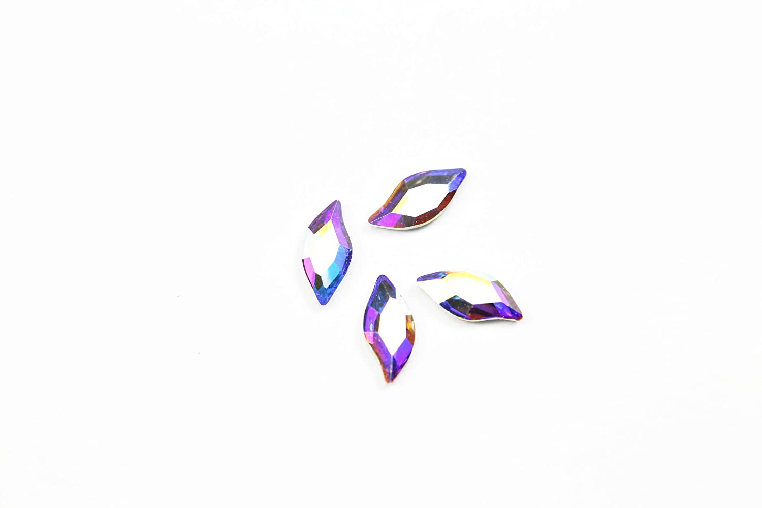 Cristalli Swarovski diamante foglia Flat Back Article 2797 – Small pack-crystal ab-8 x 4 mm-4 Swarovski Element