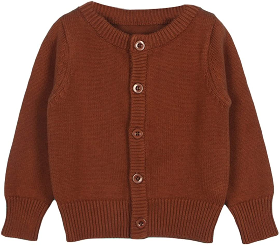TAIYCYXGAN Baby Girls Boys Knits Cardigan Sweater Crew Neck Button Down Sweater Jacket Solid