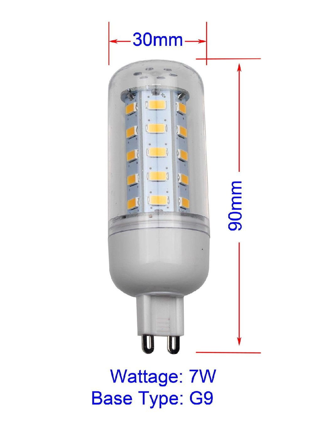 E12 E26 G9 110V LED Corn Light Bulb Lamp 5W 7W 9W 12W Warm / Cool White Bright by unbrand