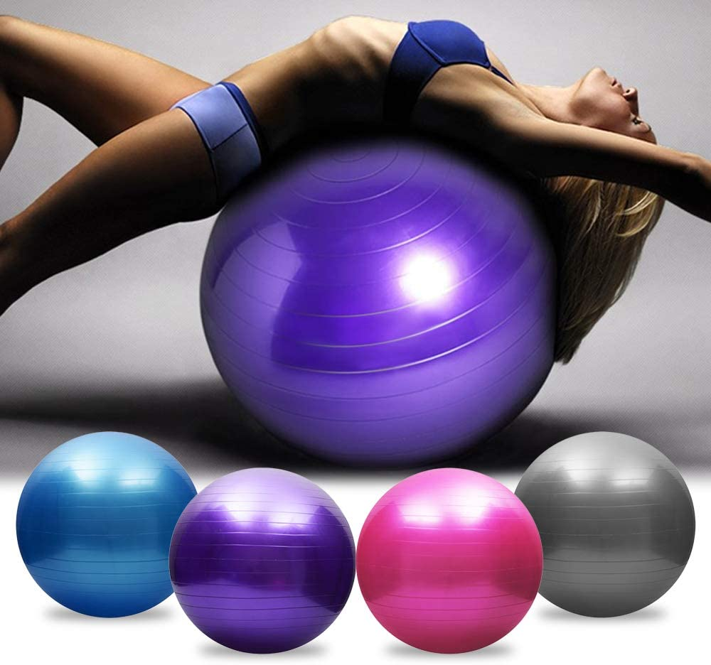 65CM 75CM Gift Air Pump TOMSHOO Anti-burst Yoga Ball Thickened Stability Balance Ball Pilates Barre Physical Fitness Exercise Ball 45CM 55CM
